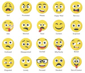 chart of emotions with emoji