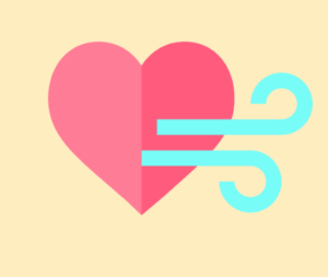 heart with wind icon